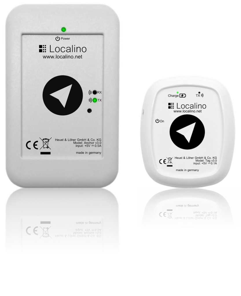 Localino Anchor (left) and Localino personal Tag (right)